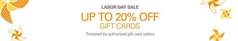 Ebay Gift Cards For Sale - ebay labor day gift card sale save up to 20