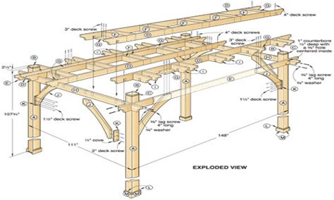 diy pergola plans images