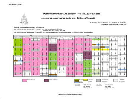 4 Calendrier Universitaire Mes Documents Site Officiel De L Universit 233 Sorbonne