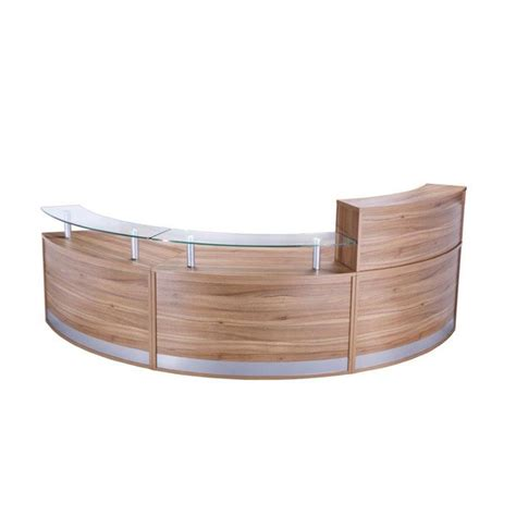 Curved Reception Desk Modular Curved Reception Desk With Glass Sign In