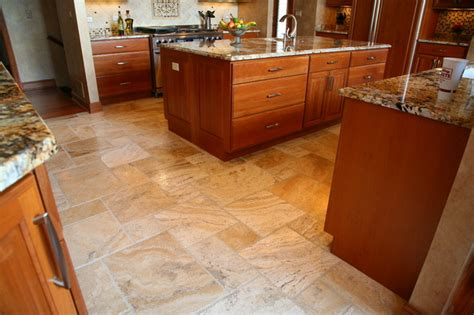 travertine kitchen floor kitchen floor traditional kitchen chicago by exceed floor home