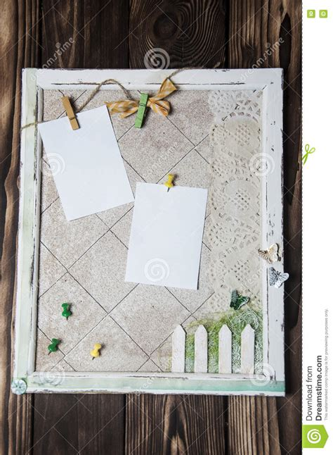 Handmade Bulletin Board - handmade cork board stock photo image 77814982