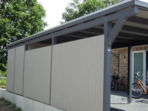 geschlossenes carport elbecarports de carport sichtschutz und carport wand