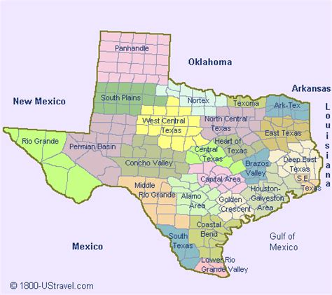 map of texas counties @ 1800 ustravel us travel guides