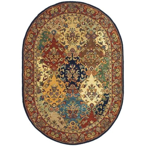 10 foot oval rug safavieh heritage multi burgundy 8 ft x 10 ft oval area