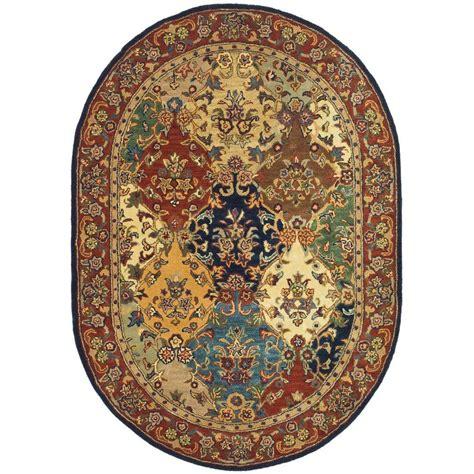 10 oval rug safavieh heritage multi burgundy 8 ft x 10 ft oval area
