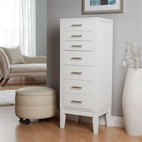 white jewellery armoire hadley floor jewelry armoire high gloss white contemporary dressers by hayneedle
