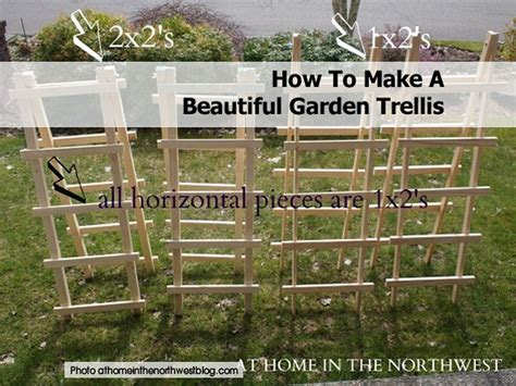 how to build trellis how to make a beautiful garden trellis
