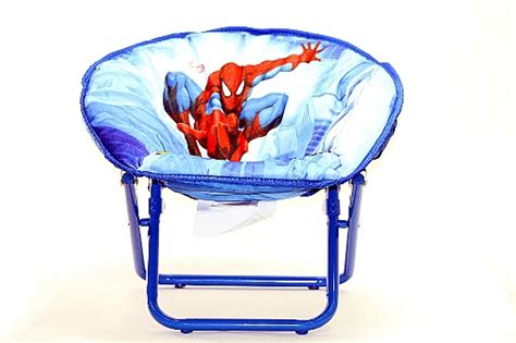 toddler mini saucer chair marvel the amazing spider blue folding mini