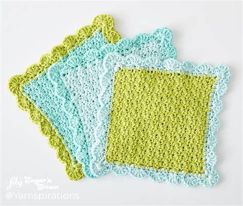 crochet dishcloth scalloped crochet dishcloth crochet pattern