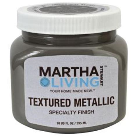 martha stewart living 10 oz anchor grey textured metallic paint hd44 73 the home depot