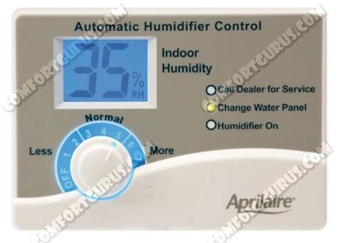 aprilaire change water panel light aprilaire rp 58 humidifier humidistat 58 rp58