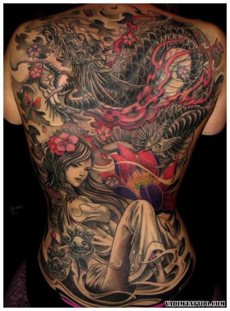 full back dragon tattoo designs 45 designs and meanings