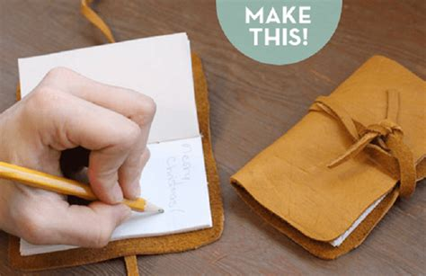Handmade Leather Journal Tutorial - 45 leather accessories you can diy diy to make
