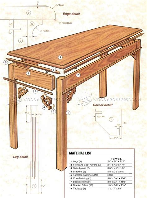 sofa table plans free sofa table plans narrow sofa table buildsomething thesofa