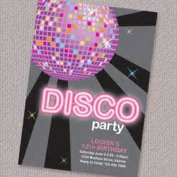 disco birthday invitation personalized printable