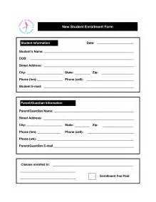 Student Enrollment Form Template by Best Photos Of Student Enrollment Form Template Student