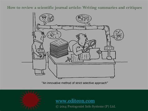 review  scientific journal article writing summaries  cri