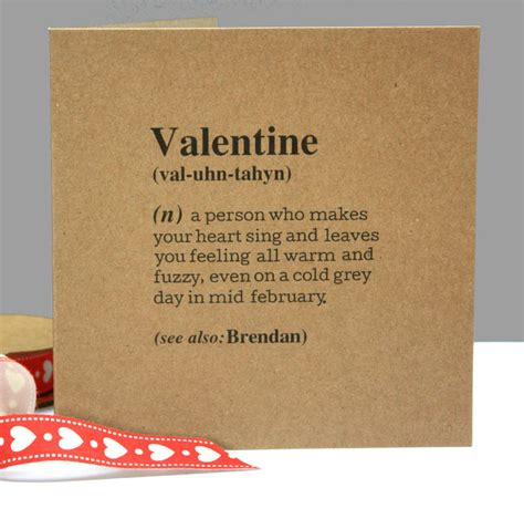 meaning of valentin personalised definition card by betsy jarvis
