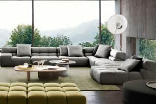 Red Leather Armchairs Tufty Time Sofa B Amp B Italia Tomassini Arredamenti