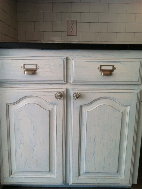 crackle kitchen cabinets crackle painted kitchen cabinets luxurious thaduder com