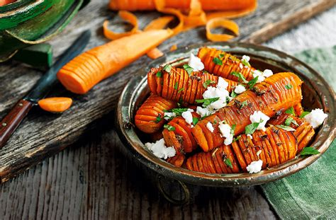 Home Planners hasselback carrots healthy recipes tesco real food