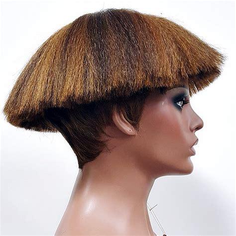 short mushroom style wigs short unique razor cut mushroom wig anytime tindra
