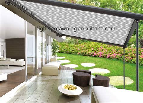 markise wasserdicht elektrische versenkbare regen dach wasserdicht pergola