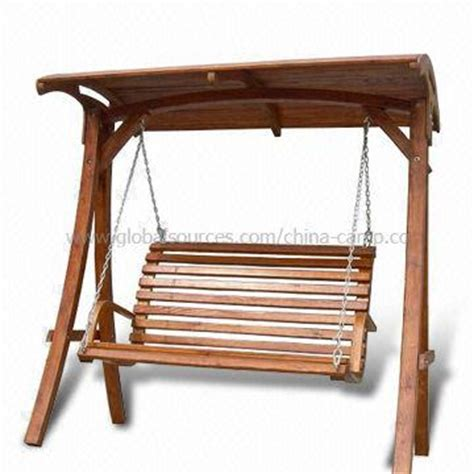 wooden canopy swing china deluxe wooden frame swing chair available with
