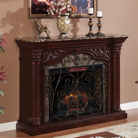 astoria 33 quot infrared electric fireplace mantel in empire