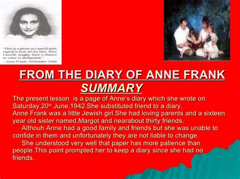 anne frank the biography summary new microsoft power point presentation