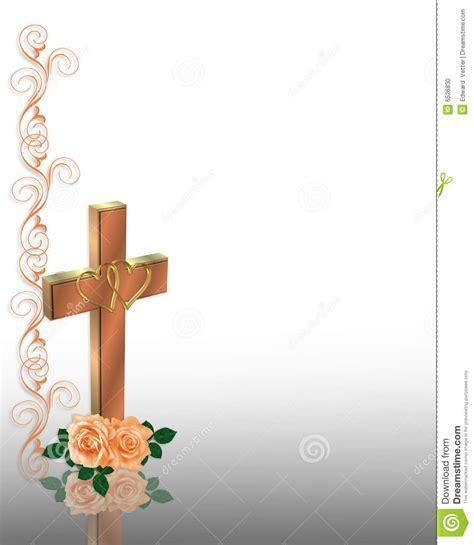 Christian Cross Wedding Invitation Stock Photo   Image