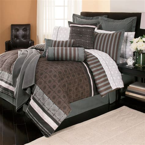 Bedroom Comforters And Bedspreads With White Curtain And