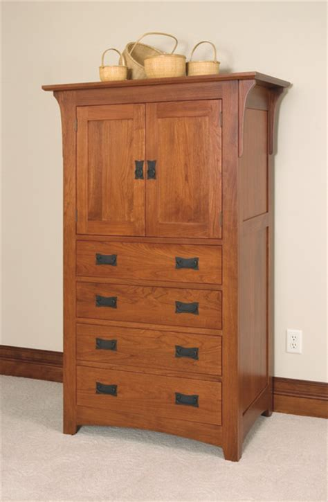 Mission Style Wardrobe by Mission Style Cherry Armoire Craftsman Armoires And