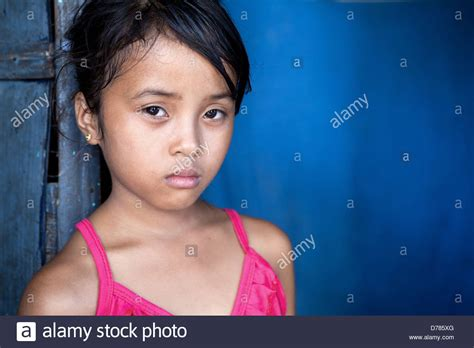 young filipina girls young filipina girl 8 years old with sad and somber