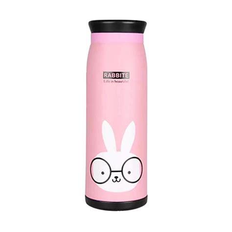 Termos Air Animal Karakter 500ml Botol Minum jual termos karakter animal rabbit botol minum stainless pink harga kualitas