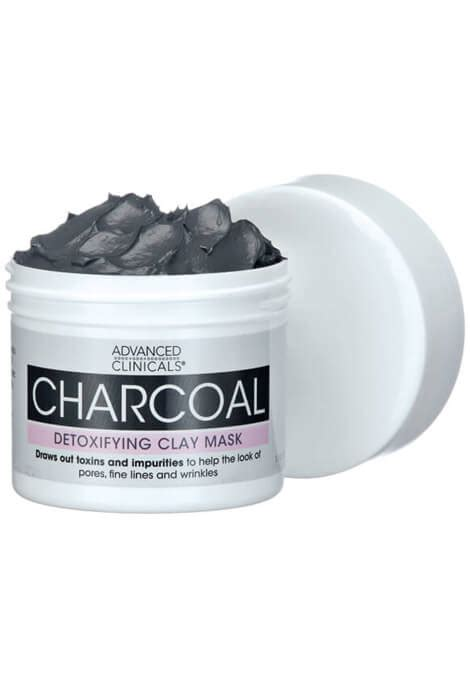 Charcoal Detox Mask by Advanced Clinicals 174 Charcoal Detoxifying Clay Mask As We