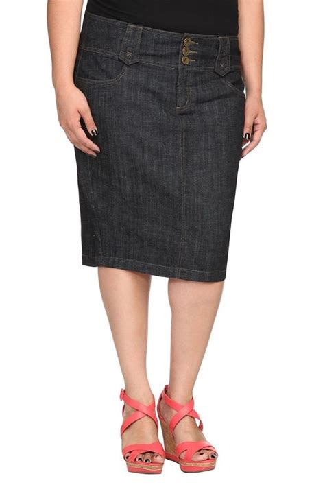 torrid plus size torrid denim rinse pencil skirt