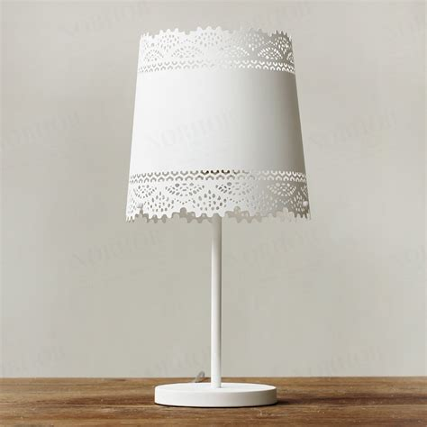 nordic ikea bedroom bedside lamp markor american country pastoral metal lace table lamp table