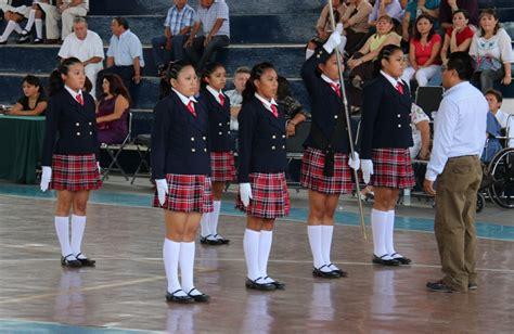 imagenes de escoltas escolares telesecundaria de sisbich 233 n chemax gana el concurso de