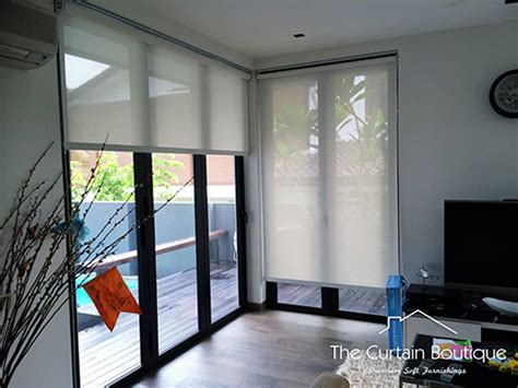 Window Blinds And Shades Singapore Roller Blinds Indoor The Curtain Boutique