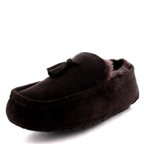 mens slippers loafers mens moccasins australian suede shoes loafers sheepskin