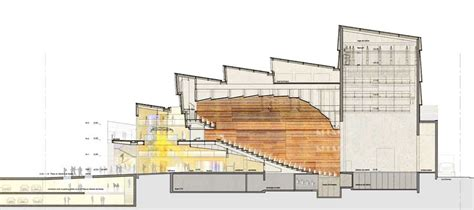 theater sections bateau feu national theatre dunkerque theater e architect