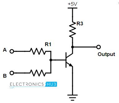 transistor nor gate circuit universal gates nor gate