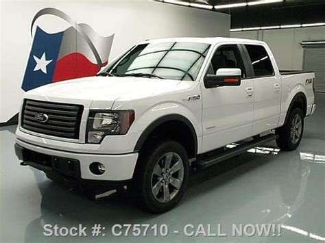 2012 ford f 150 fx4 ecoboost white crew cab 20 inch wheels f 150 photo purchase used 2012 ford f 150 fx4 ecoboost crew 4x4
