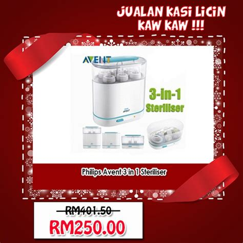 Philips Avent 3 In 1 Sterilizer T2909 1 philips avent 3 in 1 sterilizer malaysia murah best price