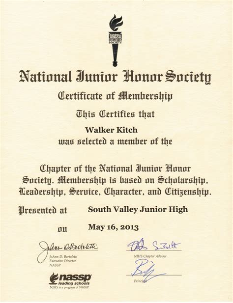 national honor society certificate template njhs essay help