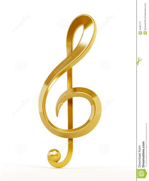 imagenes nota musical sol clave de sol do ouro ilustra 231 227 o stock imagem 44367777