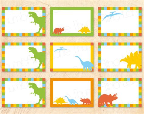 Dinosaur Printable Buffet Cards Food Tags Name Tags Instant Download Diy T Rex Rawr Roar Dinosaur Name Tag Template