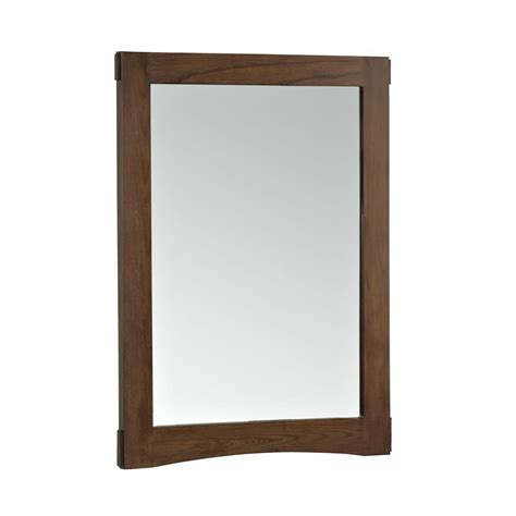 Kohler Bathroom Mirror Kohler Westmore 24 In W X 33 In H Single Framed Mirror In Westwood K 2504 F41 The Home Depot